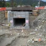Jasper Park, Alberta, pedestrian tunnel under twin Rail-way tracks